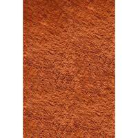 Momeni Luster Shag Tangerine Hand-Tufted Shag Rug (5' X 7') - 5' x 7'