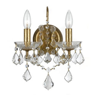 Crystorama Filmore Collection 2-light Antique Gold Wall Sconce