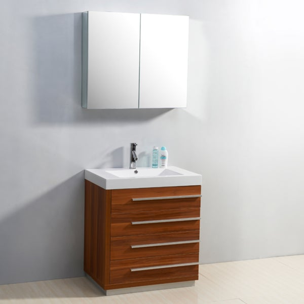 Shop Bailey 30 Inch Single Sink 4 Drawer Vanity Set Free