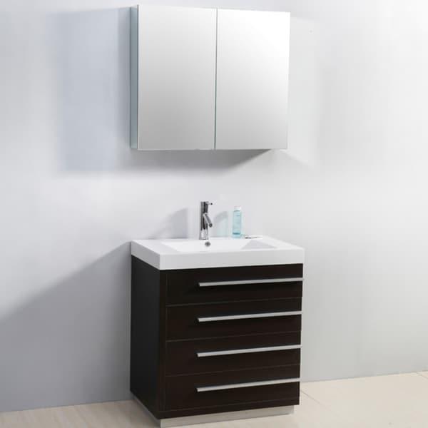 Shop bailey 30 inch single sink vanity set free shipping - 30 inch single sink bathroom vanity ...