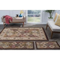 Alise Lagoon Multi 3-piece Area Rug Set - 5' x 7'