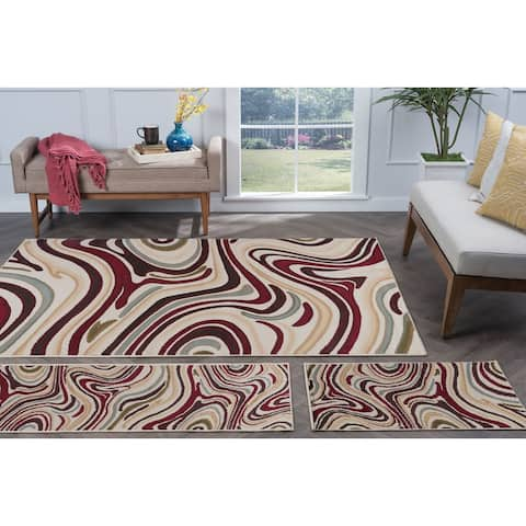 Alise Rugs Lagoon Contemporary Abstract Area Rug