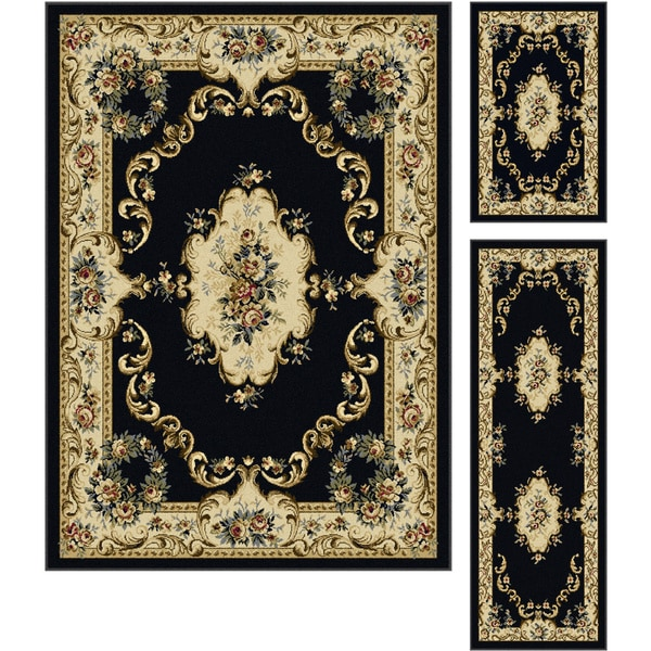 Alise Lagoon 3-piece Traditional Area Rug Set