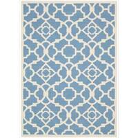 Waverly Sun N' Shade Lovely Lattice Azure Area Rug by Nourison (10' x 13')