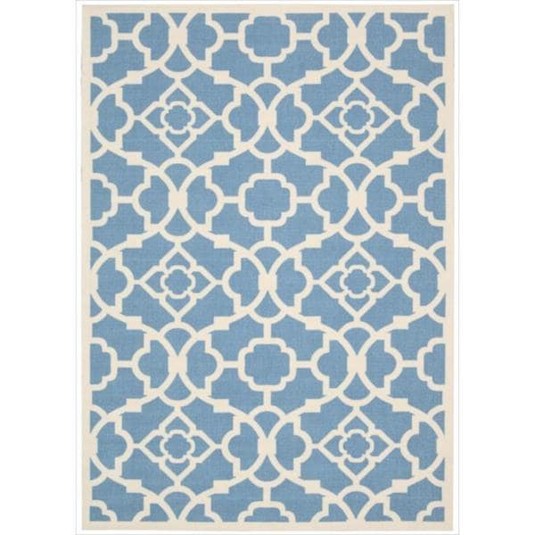 Waverly Sun N' Shade Lovely Lattice Azure Area Rug by Nourison - 10' x 13'