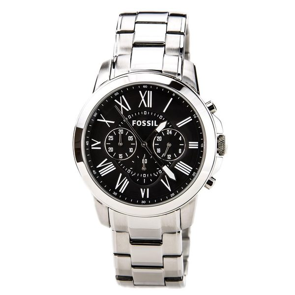 Shop Fossil Men s FS4736 Grant Chronograph Stainless Steel Watch ... 0a0c8322a7
