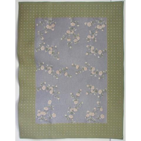 Corona Decor French Woven Heavy Weave 60-inch Square Table Cloth