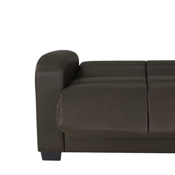 Brilliant Shop Handy Living Turco Convert A Couch Brown Renu Leather Frankydiablos Diy Chair Ideas Frankydiabloscom
