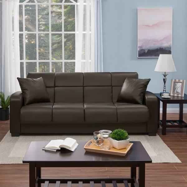 Groovy Shop Handy Living Turco Convert A Couch Brown Renu Leather Frankydiablos Diy Chair Ideas Frankydiabloscom