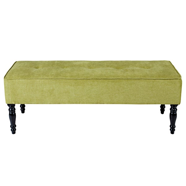 angelo:HOME Brighton Hill Parisian Green Meadow Velvet Large Bench