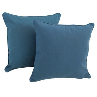 Blazing Needles 18-inch Twill Throw Pillows with Cording (Set of 2)