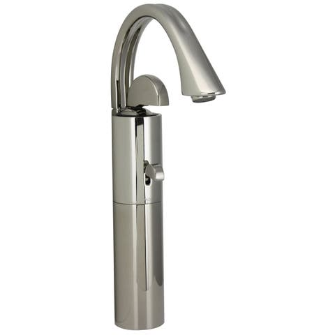Jado Platinum Nickel Arcato Monoblock Vessel Faucet with Pop-Up