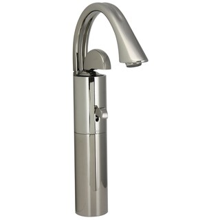 Jado Platinum Nickel Arcato Monoblock Vessel Faucet with Pop-Up