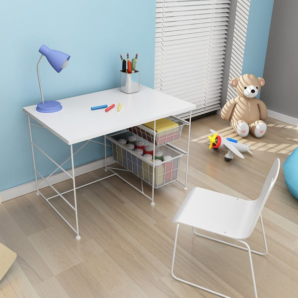 Youth Activity Desk in White