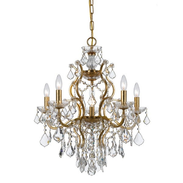 Crystorama Filmore Collection 6-light Antique Gold Chandelier