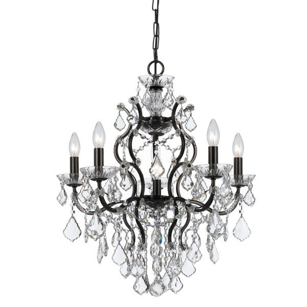 Crystorama Filmore Collection 6-light Vibrant Bronze Chandelier