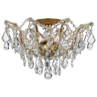 Crystorama Filmore 5-light Antique Gold Semi Flush