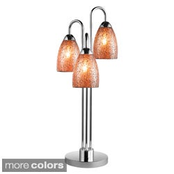 Venezia 3-light Mosaic Glass/ Chrome Table Lamp