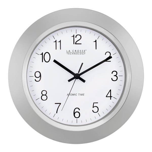 La Crosse Technology WT-3144S 14 Inch Silver Atomic Analog wall clock