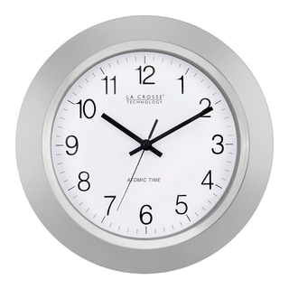 La Crosse Technology WT-3144S 14 Inch Silver Atomic Analog wall clock