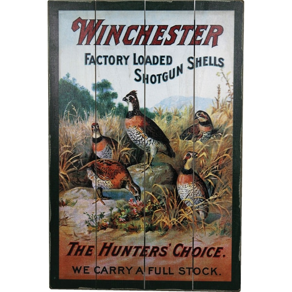 River's Edge Winchester Quail Wood Sign