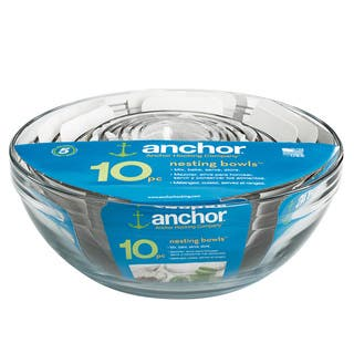 Anchor Hocking 10-piece Glass Mixing Bowl Set|https://ak1.ostkcdn.com/images/products/7873777/7873777/Anchor-Hocking-10-piece-Glass-Mixing-Bowl-Set-P15257397.jpg?impolicy=medium