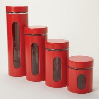 Anchor Hocking 4-piece Palladian Red Stacking Jars