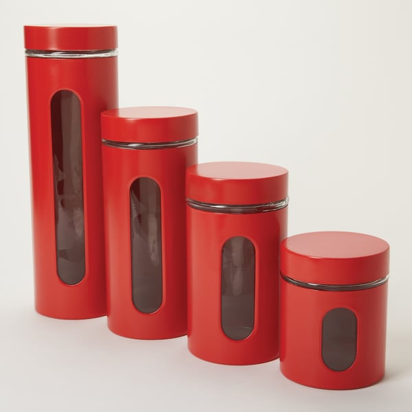 Anchor Hocking 4-piece Palladian Red Stacking Jars