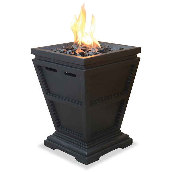 283edddac511 Shop Uniflame LP Gas Column Small Fire Pit - Free Shipping Today -  Overstock - 7873807