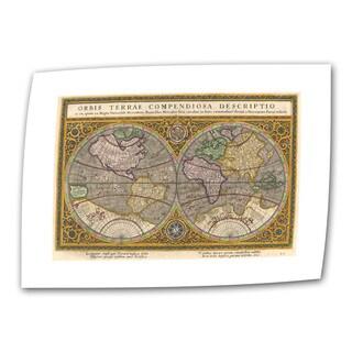Rumold Mercator 'Orbis Terrae Compendiosa Descritio' Unwrapped Canvas