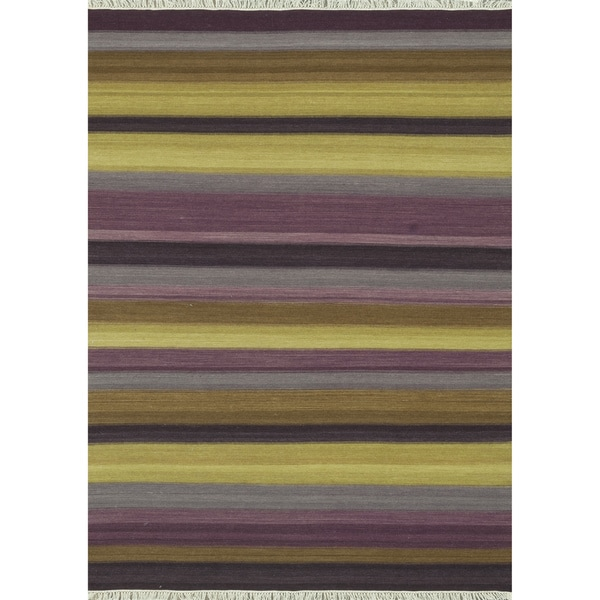 Zahra Hand Woven Violet Wool Rug (3'6 x 5'6)
