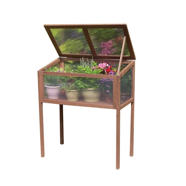 Raised Wooden Greenhouse Cold Frame - Free Shipping Today ...