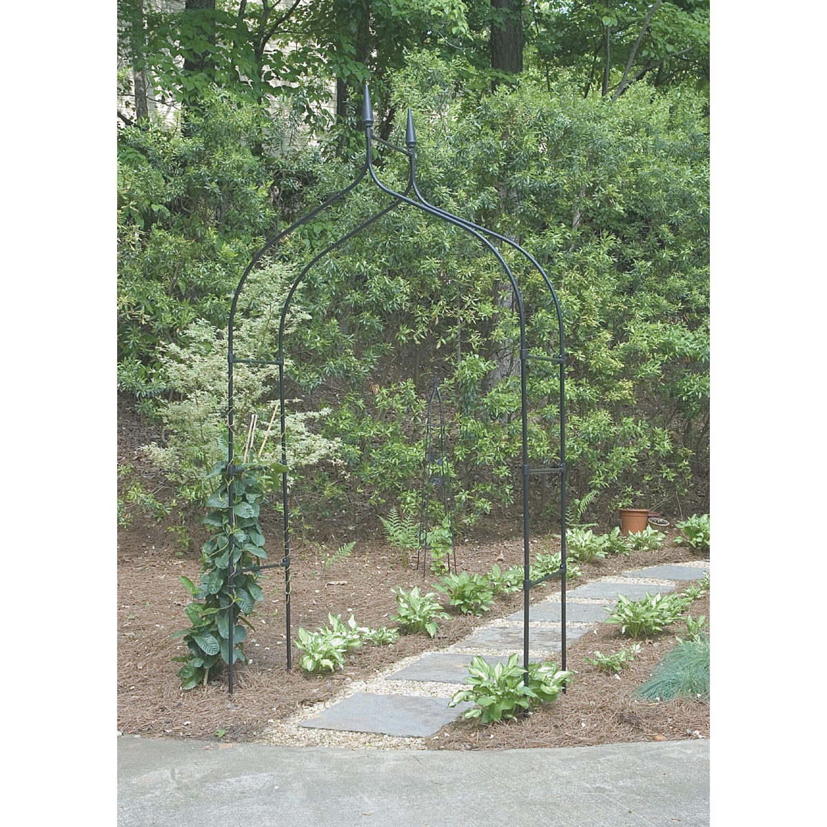 USA Gothic Arch, Black (Steel) #R351, Outdoor Décor