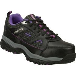 Women's Skechers Work D'lites SR Tottle Black/Purple