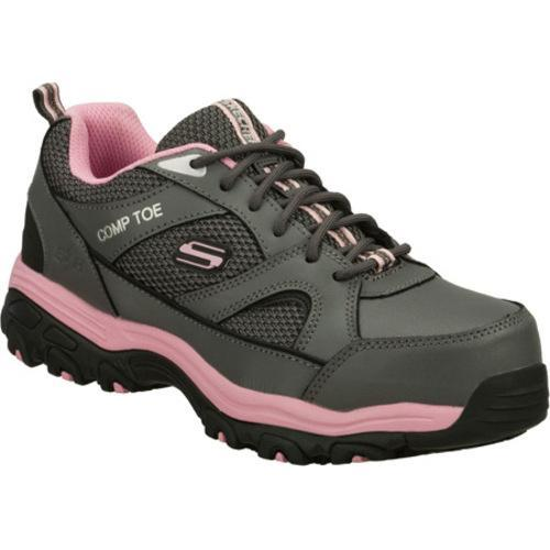 Women's Skechers Work D'lites SR Tottle Gray/Pink