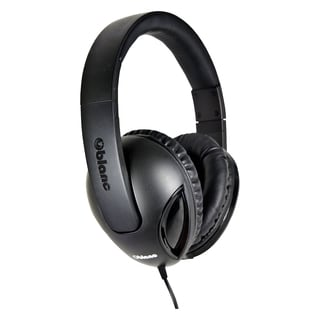 SYBA Multimedia Oblance Cobra Black Stereo Headphone w/In-line Microp