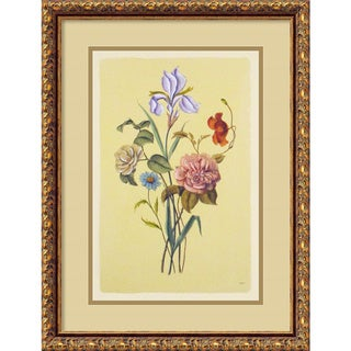 Botanical Bouquet V' Framed Art Print (17 x 22-inch)