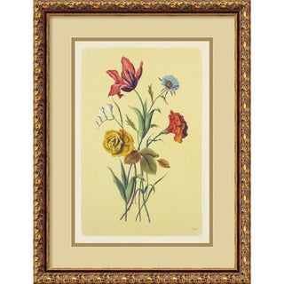 Botanical Bouquet I' Framed Art Print (17 x 22-inch)