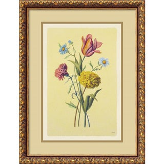 Framed Art Print 'Botanical Bouquet II' 17 x 22-inch