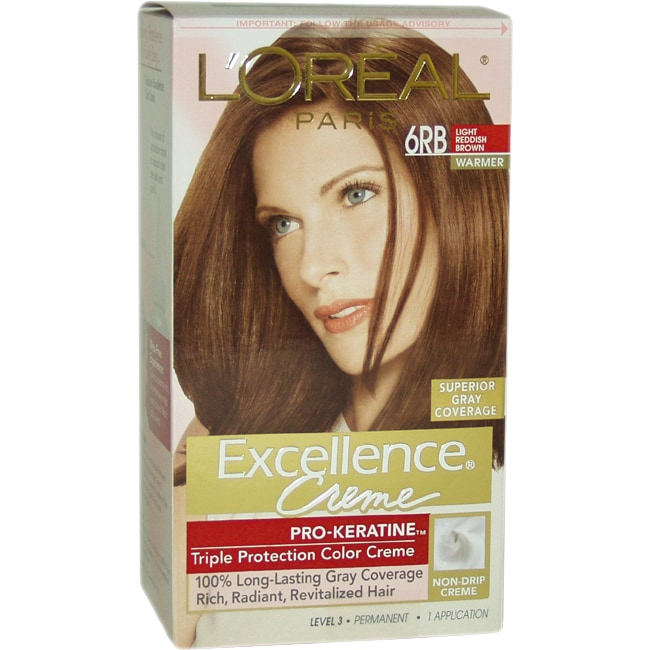 L'Oreal Excellence Creme Pro Keratine #6RB Light Reddish ...