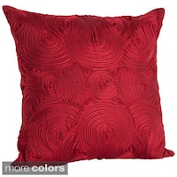 Embroidered Design 18-inch x 18-inch Decorative Throw Pillow