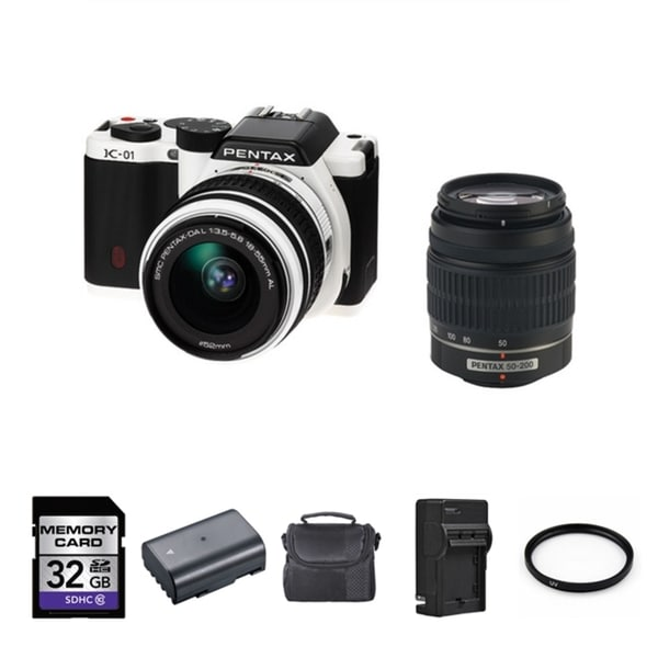 Pentax K-01 Digital Camera/ 18-55mm & 50-200mm Lens Bundle
