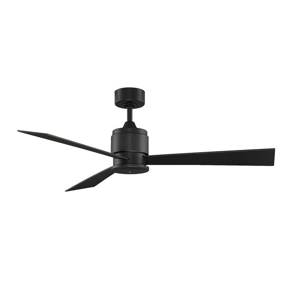 Black Ceiling Fans : Shop fanimation zonix inch black ceiling fan free
