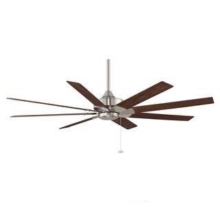 Fanimation Levon 63-inch Brushed Nickel Ceiling Fan - Silver