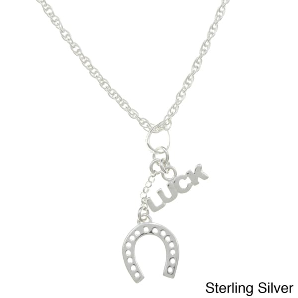 Sterling Essentials Sterling Silver Luck Horse Shoe Rope Necklace