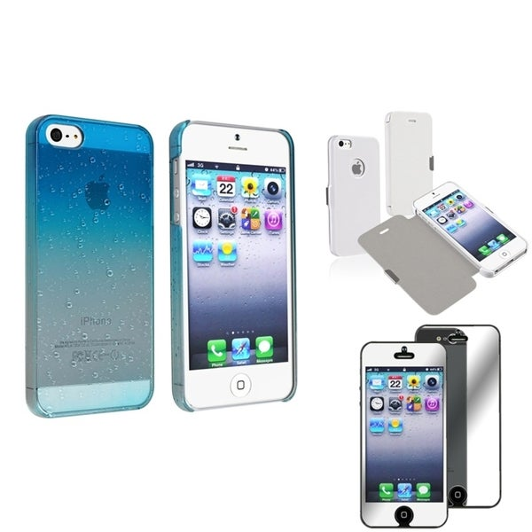 INSTEN Phone Case Covers/ Mirror LCD Protector for Apple iPhone 5/ 5S