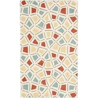 Martha Stewart by Safavieh Spring Wheel Mosaic Bougainvillea Cotton Rug - 3'9 x 5'9