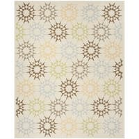 Martha Stewart by Safavieh Quilt Cream Cotton Rug - 9' 6 x 13' 6