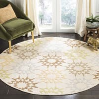 Martha Stewart by Safavieh Quilt Cream Cotton Rug (4' x 4' Round)