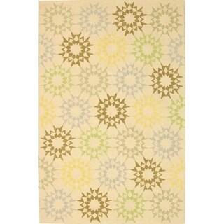 Martha Stewart by Safavieh Quilt Cream Cotton Rug (5' 6 x 8' 6)
